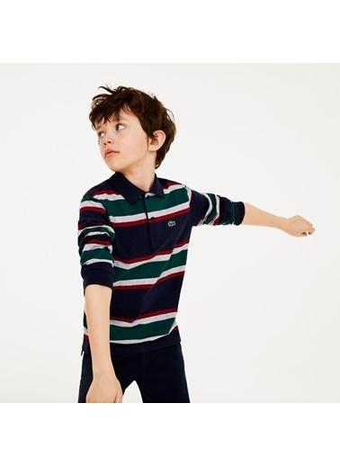 Lacoste Erkek Çocuk Puantiyeli Sweatshirt DJ0281.QRN Renkli